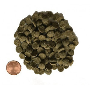 1000gram Mini Algen-Wafers med 6 procent Spirulina